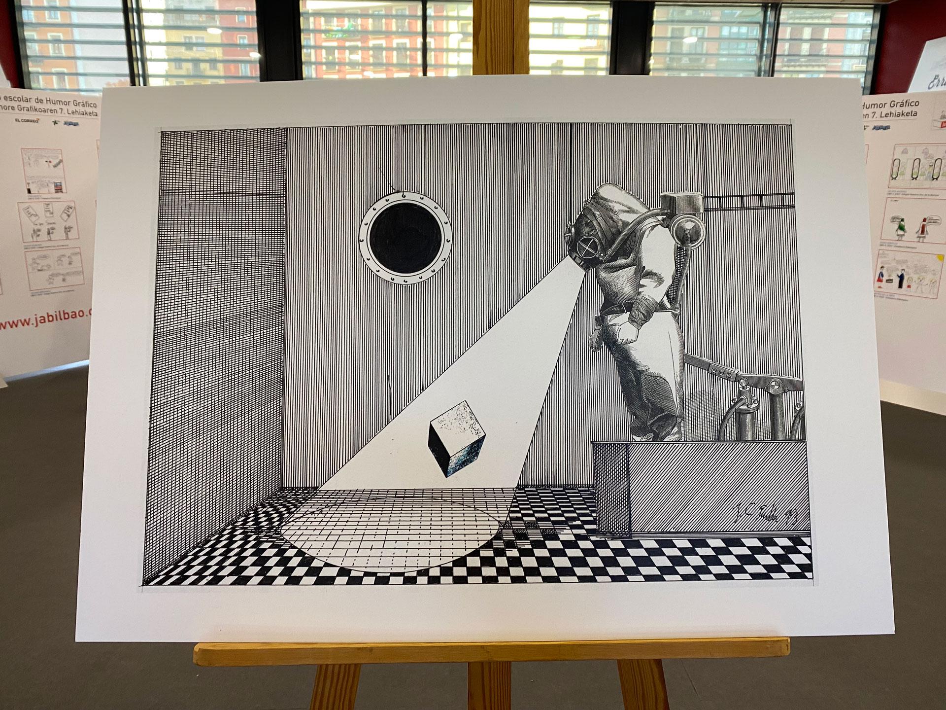 Una de las obras de Juan Carlos Eguillor